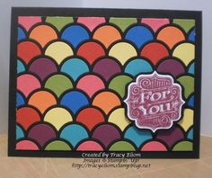 Bold mosaic created using Striped Scallop Framelit Die from Stampin' Up!  http://tracyelsom.stampinup.net