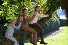 Belgian royal family: winter photoshoot. King Philippe, Queen Mathilde and their 4 children Crown Princess Elisabeth, Duchess of Brabant, Prince Emmanuele, Prince Gabriel and Princess Eleonore 12/24/2014