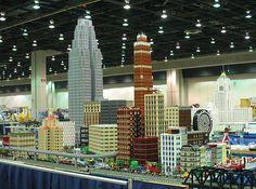 LEGO City with Detroit buildings