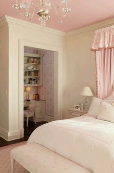 Pink bedroom for girls