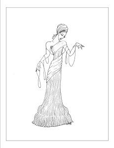 art deco fashion coloring pages images and printables 3