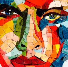 Colour is a critical element in your mosaic design, so having an understanding of some basics can help you achieve the look you are after in mosaics. Here are some fundamental colour principles that you should keep in mind:Distinct. Glass Wall Art, Stained Glass Art, Mosaic Glass, Mosaic Tiles, Mosaics, Mosaic Mirrors, Raku Pottery, Mosaic Portrait, Portrait Art