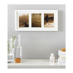 """RIBBA Frame IKEA You can choose to use the frame for 3 pictures 5x7"""" or 1 picture 20x9""""."""