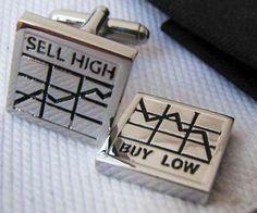 Stock Chart Cufflinks love these as a former stockbroker.