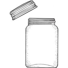 Mason Jar Cards, Mason Jars, Coloring Sheets, Coloring Pages, Cross Stitch Embroidery, Embroidery Patterns, Pocket Scrapbooking, Pots, Outline Drawings