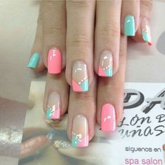 Ladies' nails have always been an important dimension of beauty and fashion. You can also have so many choice for your nail designs. Star nail art, Hello Kitty nail art, zebra nail art, feather nail designs are a few examples among the various themes. Cute Nails, Pretty Nails, My Nails, Nail Designs Spring, Nail Art Designs, Spring Nails, Summer Nails, Nagel Bling, Manicure E Pedicure