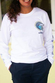 White LS t-shirt - loggerhead