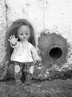 Black White Photography Vintage Doll Photo 1970s http://www.etsy.com/shop/KallistaSalon?ref=si_shop