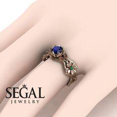 The Vintage Valknut Blue Sapphire Ring- Eliana no. Elegant Engagement Rings, Deco Engagement Ring, Rose Gold Engagement Ring, Gold Diamond Wedding Band, Gold Wedding, Wedding Rings, Gold Ring, Art Deco, Sapphire Rings