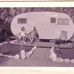 Vintage Camping Photo