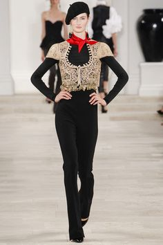 Ralph Lauren Spring 2013 Ready-to-Wear - 41 <3 the bolero (could do w/o the red scarf hmm)