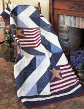 Stars & Stripes quilt from Patriotic Quilts Fall 2013. Quilt by Mark Lipinksi.