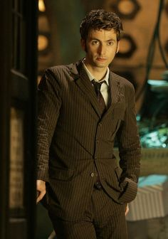 """Doctor Who Challenge Day 1: The Tenth doctor is my favorite. I absolutely <3 Nine and Eleven, but Ten holds a very special place in my heart. He's compassionate and loyal and genius and caring and loves so much. He carried so much love in those two hearts, but also pain, and my heart hurt when his two hearts did. And, you know, Ten's hair is brilliant, and he's """"slim and a little bit foxyyyy!"""""""