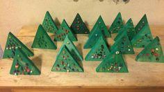 Advent Calendar, Triangle, Christmas Tree, Holiday Decor, Home Decor, Teal Christmas Tree, Decoration Home, Room Decor, Advent Calenders
