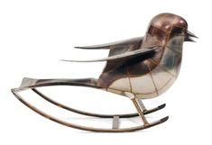 Rocking Chair Bird   Handmade Charlotte