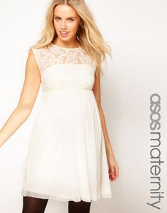 ASOS Maternity Lace and Mesh Skater dress $23.74