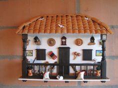 Balcones artesanales paisas Colombian Culture, Window Design, Dollhouse Furniture, Apartment Living, Bird Houses, Diy Art, Wine Rack, Diy And Crafts, Handmade