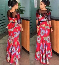 Latest ankara skirt and blouse out 25 classical ankara skirt and blou. from Diyanu - Ankara Dresses, Shirts & African Fashion Designers, African Fashion Ankara, Latest African Fashion Dresses, African Print Dresses, African Dress, African Prints, Nigerian Fashion, Latest Fashion, Ankara Skirt And Blouse