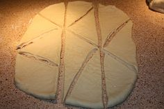 Homemade crescent roll dough - no waiting for the dough to rise, so this can be prepared and ready to go quickly.