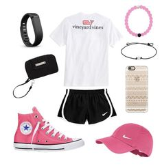 """""""Trip to Walmart"""" by jennagj on Polyvore featuring Vineyard Vines, NIKE, Fitbit, Converse, Vera Bradley and Casetify"""