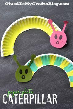 Paper Plate Caterpillar {Kid Craft}
