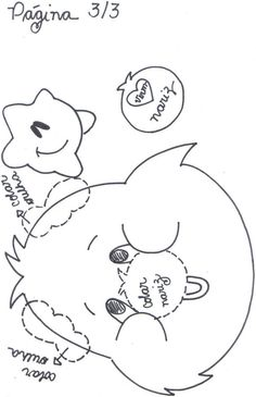 molde ursinhos carinhosos EVA - Pesquisa Google