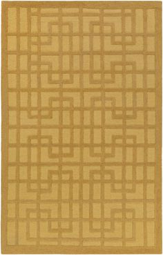 Marigold Lawson Hand-Crafted Gold Area Rug