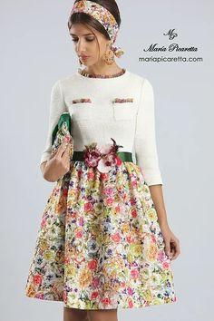 Floral Fashion, Fashion Wear, Fashion Dresses, 50s Dresses, Girls Dresses, Winter Dresses, Summer Dresses, Dress Outfits, Dress Up