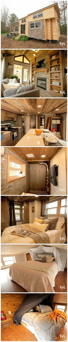 My dream family vacation home The post Luxurious 400 sq feet tiny house. My dream family vacation home… appeared first on Home . Tyni House, Tiny House Living, Dome House, Living Room, Tiny House Movement, Casas Containers, Tiny House Nation, Tiny Spaces, Tiny House Plans