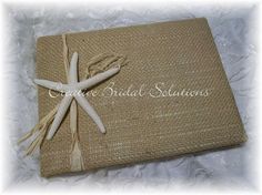Natural Burlap Nautical Beach Wedding Guest Book by CreativeBridal, $40.00