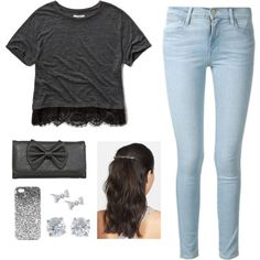 Untitled #13 by st034mg on Polyvore featuring polyvore, fashion, style, Abercrombie & Fitch, Frame Denim, Tiffany & Co., Kobelli, Mrs. President & Co. and Topshop