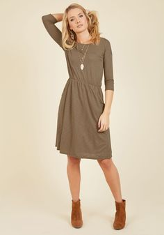 Set the Staple Knit Dress in Porcini | Mod Retro Vintage Dresses | ModCloth.com