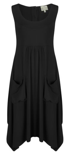 Masai Clothing Orinda Wide Bottom Dress (Black) at Gemini Woman- LOVE!