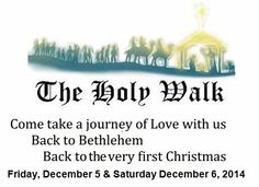 The Bremen Holy Walk, a recreation of the events leading up to and including the Nativity, hosted by the Bremen United Methodist Church.