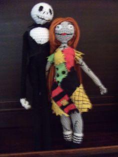 crochet jack and sally