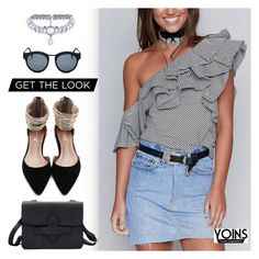 """Yoins"" by dressedbyrose ❤ liked on Polyvore featuring Le Specs, WithChic, yoins, yoinscollection and loveyoins"