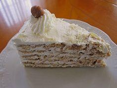 Nuss - Sahne - Torte, ein schmackhaftes Rezept aus der Kategorie Torten. Bewertungen: 5. Durchschnitt: Ø 4,0.