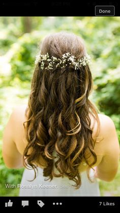 Waterfall Braid Undo Bride w/ baby breath