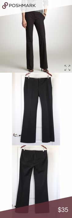 """J.CREW Premium Bistro Dress Pants Size 8 Black J.CREW Premium Bistro Dress Pants Size 8 Black City Fit Women's Wide Leg Trouser Style 99809- City Fit Great Condition! No snags, tears, or stains noted. Pics show accuracy of condition! MSRP $88 Stock photo from J.Crew.com website From a pet & smoke free home  Measurements (approx):  inseam 33"""" waist 33"""" hips 38"""" J. Crew Pants Trousers"""