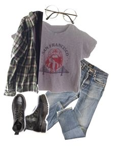 """Untitled #88"" by evamederer on Polyvore featuring A.P.C. and Burkman Bros."