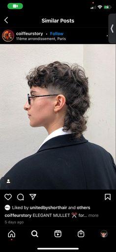 Mullet Haircut, Mullet Hairstyle, Undercut Hairstyles, Boy Hairstyles, Mullet Fade, Curly Mullet, Curly Hair Cuts, Curly Hair Styles, Mens Hair Colour
