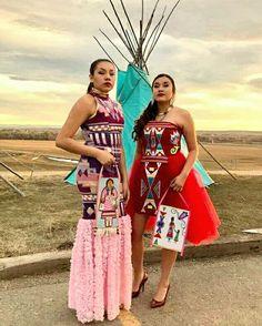 Design's by Della~Owner/Designer - Della Bighair-Stump(Crow Nation) Native American Regalia, Native American Wedding, Native American Clothing, Native American Beauty, American Indians, Native Wears, Ribbon Skirts, Native Design, Native Style