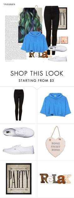 """""""Rainbow hair casual"""" by jahnaeislit ❤ liked on Polyvore featuring Topshop, Balenciaga, Vans and Hatcher & Ethan"""
