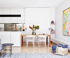 By focusing on clean lines and quality materials, a young couple transformed a run-down Edwardian house in Melbourne into a fresh family retreat.