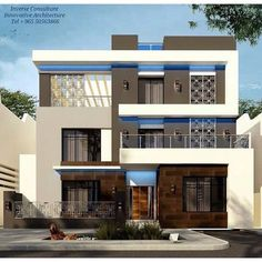 Innovative Architecture, Architecture Design, Modern Exterior, Exterior Design, Indian House Plans, Beautiful Home Gardens, Modern Properties, Modern Architects, House Front Design