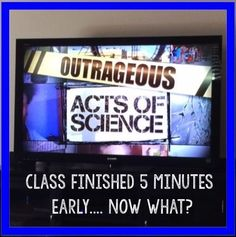 Check out video clips from Outrageous Acts of Science Middle School Science, Elementary Science, Science Classroom, Science Education, Physical Science, Classroom Ideas, Classroom Activities, Higher Education, Special Education