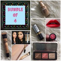 BUNDLE of 4 Make up BUNDLE of 4 includes: 1-Maybelline master conceal camouflaging concealer (40 Medium)  1-Revlon Super Lustrous Lipstick (crème love that red 725) 1-W7 The Cheeky Trio (bronzer, blusher, highlighter) 1-Maybelline  dream liquid mousse airbrush finish (75-natural beige) All Brand New and sealed. With free Nail polish. Revlon❣Maybelline❣W7 Makeup