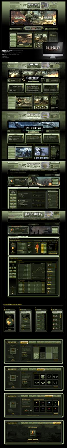 Call Of Duty: World At War Hub - Designed By Eric Jordan (www.ericjordan.com) #webdesign #graphic #design