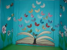 No words needed for this spring display! The butterflies were made on a Cricket--two together for a 3-d look. Not an original idea--just my twist on it. So thankful that so many people share!