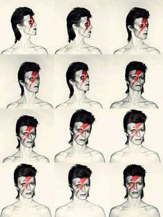 David Bowie Aladdin Sane 1973 Photo by Brian Duffy makeup by Pierre LaRoche Cultura Pop, The Beatles, Mayor Tom, Rock And Roll, Expo Paris, Historia Do Rock, Brian Duffy, The Wombats, Aladdin Sane